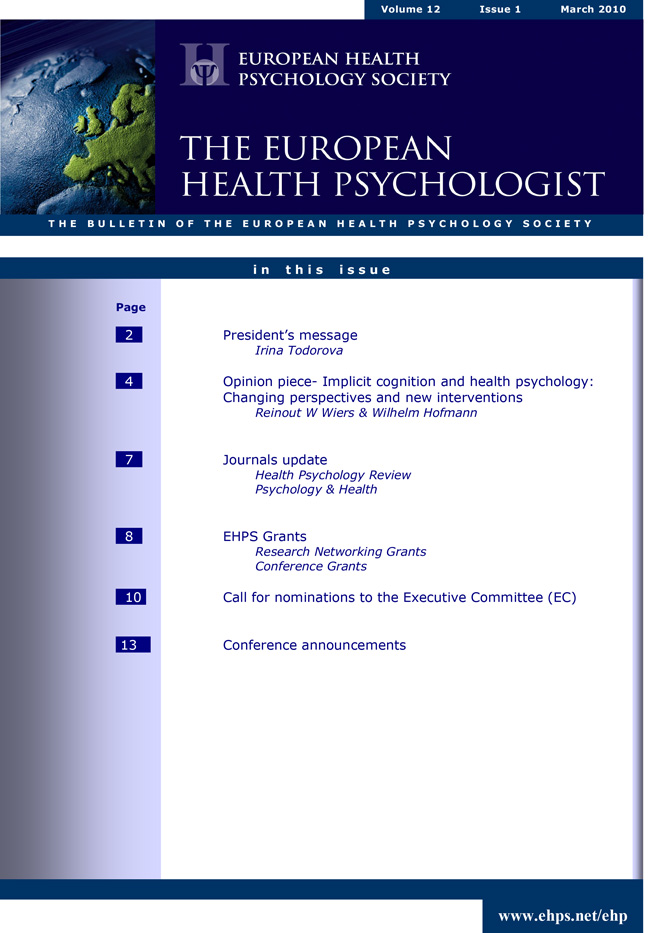 Implicit cognition and health psychology: changing perspectives and